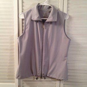 Chico's Zenergy 1 Grey Zip Sporty Vest